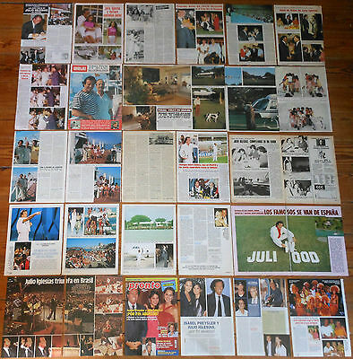 JULIO IGLESIAS prensa 1970s/00s fotos clippings Isabel Preysler clippings