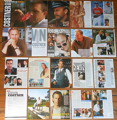 KEVIN COSTNER spanish clippings 1980s/10s photos magazine sexy actor