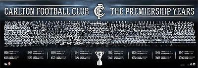 Official Carlton Football Club The Premiership Years History Montage Print