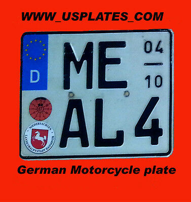 1 Real Authentic Original German Motorcycle License Plate Bmw Cool Tag Harley