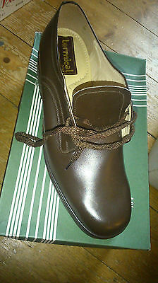 Termical Mens Vintage Brown Leather Lace Shoe Uk 10 New Xmas