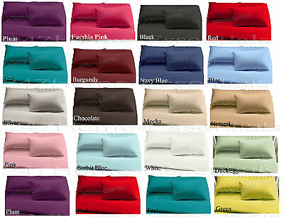 Non Iron Percale Fitted, Flat Sheets Single Double King Super King PillowCases