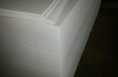 Corrugated Plastic White 18x12 Flute 4mm Sign Sheets Blanks Inteplast Coroplast
