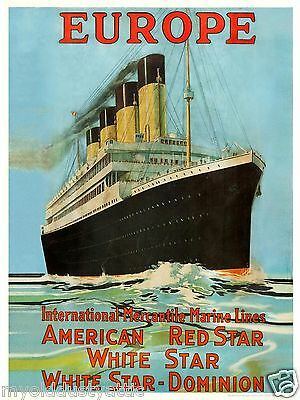 IMM White Star Line RMS Olympic -  post- Titanic  1920's Poster 18 x 24