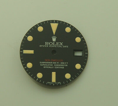 Rolex Refinished 1665 Seadweller Black Matte Single Red Dial Very Rare