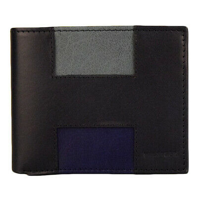 New Men's Tommy Hilfiger Leather Double Billfold Credit Card Wallet 31tl130013 N