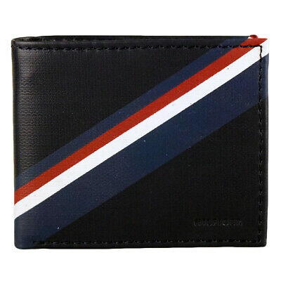 New Men's Tommy Hilfiger Leather Double Billfold Credit Card Wallet 31tl130012 N