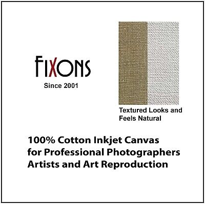 "100% Cotton Inkjet Canvas for Epson - Matte Finish 36"" x 40' - 2 Rolls"