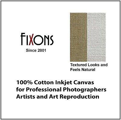 "100% Cotton Inkjet Canvas for Epson - Matte Finish 44""x40' - 2 Rolls"