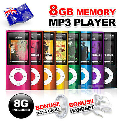 "1.8"" LCD 8GB MP3 MP4 Player Music Media FM Radio Video 4th USB 2.0 AU STOCK"
