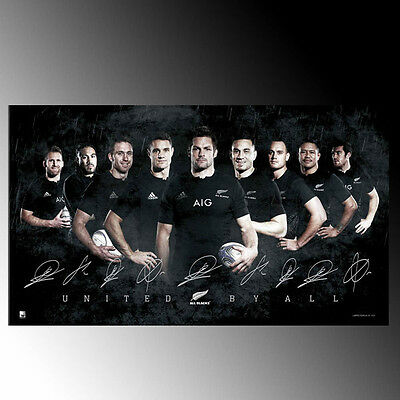 Official Rugby World Cup New Zealand All Blacks 2015 Signed Sports Print