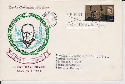 (JP-223) 1965 GB FDC 4d commonwealth issue of Churchill (223HP)