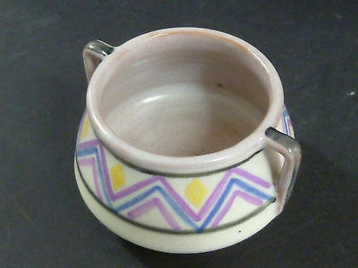 Poole Pottery Small Twin Handle Bowl With Abstract Artwork / John Adams