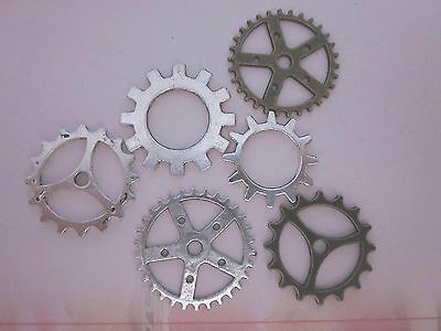 60 COGS -silver - bronze for jewellry making / media art -  S/ 3