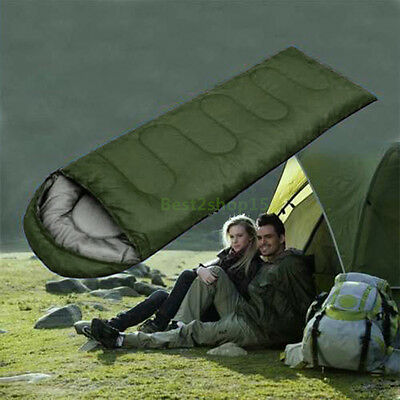Mummy Sleeping Bag 5°C-15°C Camping Hiking With Carrying Case Brand arm green