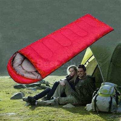 Cold-Weather Sleeping Bag, Outdoor Camping, Temperature Resistant W/Case US RED