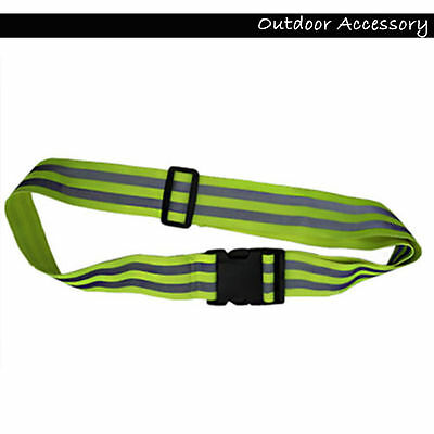 Motorcycle Bike Cycling Motorbike Reflective Belt High Visibility Adjustable New
