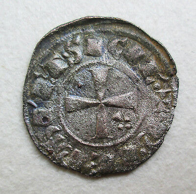 Crusader Manfred King Of Sicily? Silver Coin Archaeology