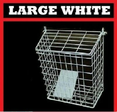 Large Letterbox Cage Door Letter Guard Basket Post Mail Catcher White