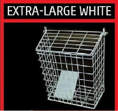 Extra Large Letterbox Cage Door Letter Guard Basket Post Mail Catcher White