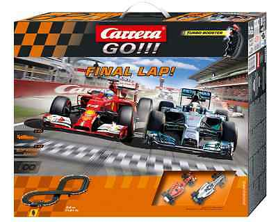 Carrera 62365 Carrera GO!!! Final Lap Mercedes Ferrari Slot Car Racing Set 1:43