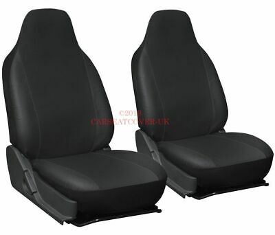 VW Caddy Maxi Camper - Heavy Duty Leatherette Van Seat Covers - 2 x Fronts