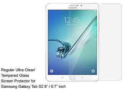 """For Samsung GalaxyTab S2 8/9.7"""" Ultra Clear/Tempered Glass screen protector Film"""