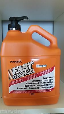 Lava Manos Mecanico Fast Orange 3.78L Dispensador Jabon Quita Grasa Tinta Etc