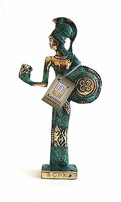 Ancient Greek Bronze Athena Gold Green Oxidization 164