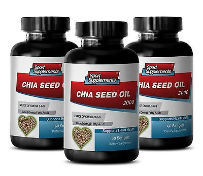 Extreme Fat Burner - Chia Seed Oil 2000mg Extract,Immune System Booster 3B
