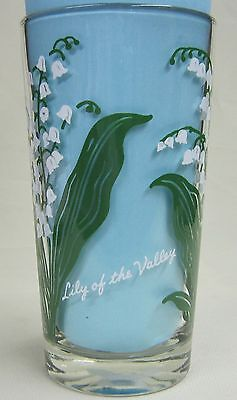 Lily of the Valley Peanut Butter Glass Glasses Drinking Kitchen Mauzy 69-5