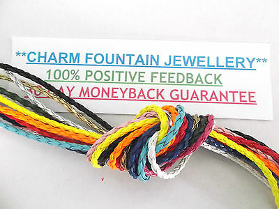JEWELLERY WHOLESALE BULK FINDING SUPPLY X10/20mtr PU BRAIDED LEATHER CORD (LC)