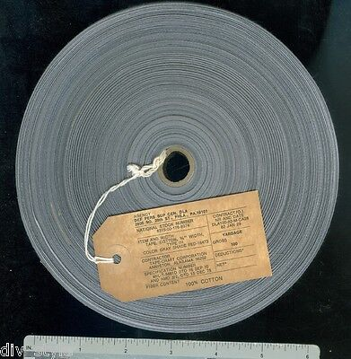 """Textile Tape 3/4"""" x 100 yards cotton twill gray military surplus fabric"""