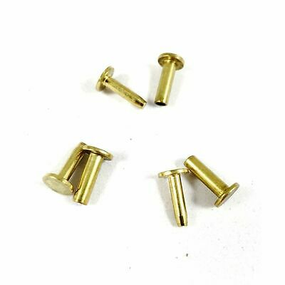 "Cutlers Cutlery Rivets 5/16"" x 1/2"" Knife Making Handle Pins Brass - 10 sets"