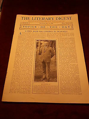 """Rare Old Vtg Antique May 12, 1928 Book/magazine """"the Literary Digest"""", See Pics"""
