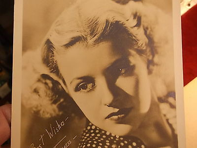 "#3 of 4, OLD VTG ""METRO-GOLDWYN-MAYOR (MGM) STUDIOS CELEBRITY ""BETTY FURNESS"""