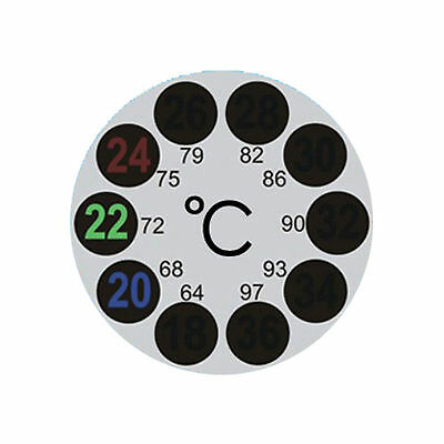 Lcd Stick On Adhesive Strip Round Thermometer For Fish Tank Aquarium Brew Window