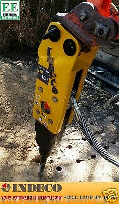 HP150 Indeco Rock Breaker suitable for Mini Excavators 800Kg to 2.5 Tonnes