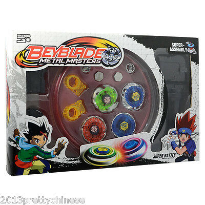 New Metal Master Fusion Top Rapidity Fight Rare 4D Launcher Grip Beyblade Set