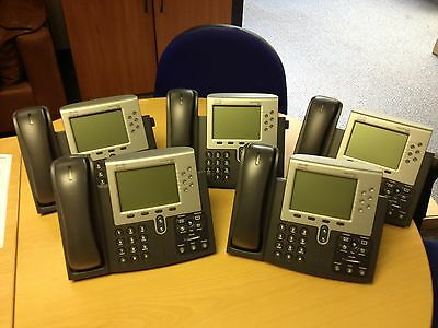 CISCO CP-7961G JOB LOT BUNDLE 5 PHONES GRADE A individually boxed cisco 61G