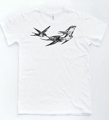 Bird Sketch T-shirt Tattoo Indie Hipster Cool Tee Fresh Savage Snatched Top