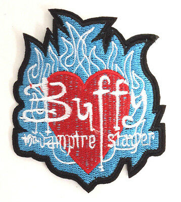 """Buffy the Vampire Slayer 3.5"""" Blue Flame Logo Patch - FREE S&H  (BVPA-02)"""