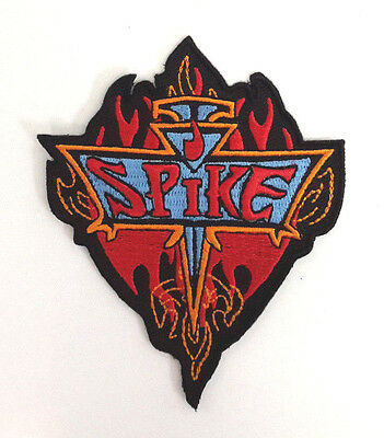 """Buffy the Vampire Slayer/Spike 3.5"""" Red Flame Logo Patch- FREE S&H  (BVPA-03)"""