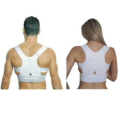 Posture Support Corrector Back Pain Relief Magnetic Belt Brace Male & Female
