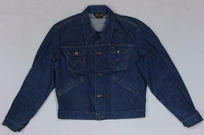 80s Vintage Wrangler No Fault Denim Jean Western Ranch Motorcycle Work Jacket L