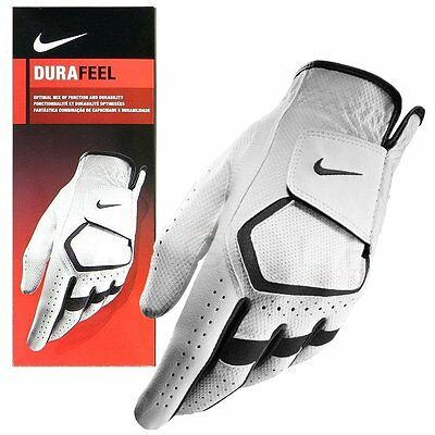 NEW NIKE Mens Durafeel Golf Glove (White) - Choose Size and Hand