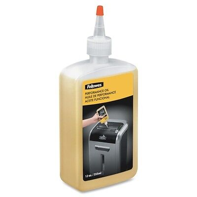 Fellowes Shredder Oil Performance Lubricant, Plastic Squeeze Bottle, 12oz, 35250