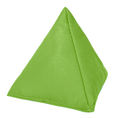 Lime 5 Pack Cotton Juggling Pyramid Bean Bags Practice Catching Play Triangular