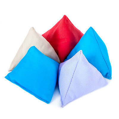 5 Pack Assorted Juggling Pyramid Bean Bags Practice Catching Play Triangular PE