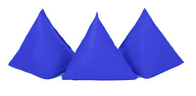 Blue 5 Pack Cotton Juggling Pyramid Bean Bags Practice Catching Play Triangular